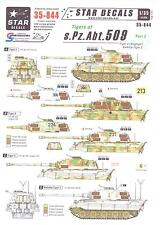 Star Decals 1/35 TIGER TANKS OF s.Pz.Abt. 509 German King Tiger 2 Tanks Part 2