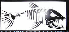 Evil skeleton fish stickers/car/van/bumper/window/decal fishing angling 5189 BK