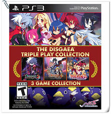 3 IN 1 PS3 The Disgaea Triple Play Collection SONY Strategy Games NIS America