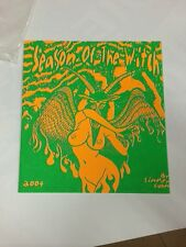 Cramps Hot Water Pj Harvey El Vez Supersuckers silk screened Rock Poster Zine