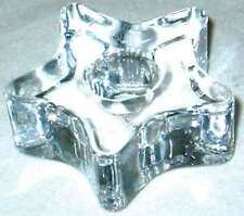 "Clear Glass Star Mini Ritual Chime Candle holder 1/2 "" Diameter Pagan Wicca"