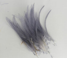 30 qualité s gris très fine hackle feathers for millinery and crafts