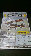 Biplane Model Kit Paper assembly Colecao Decolar made in Spain