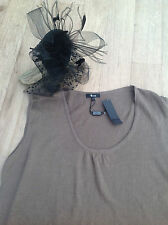 HARRODS 100% Linen Top Neutrals NEW  tagged Size Med 16/18 party bbq cruise