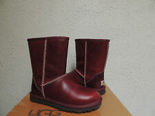 UGG CLASSIC OXBLOOD WATER-PROOF LEATHER/ SHEEPSKIN BOOTS, US 5/ EUR 36 ~NEW