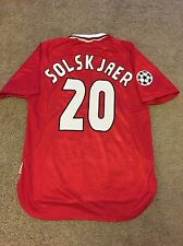 MANCHESTER UNITED HOME SHIRT 1998/99 ADULTS LARGE (L) SOLSKJAER VINTAGE UMBRO
