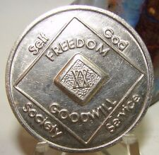 20 Year Narcotics Anonymous NA Medallion Coin Chip 1996 WSO Series Token Sober