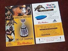 CFL Schedule Hamilton Tiger- Cats pocket schedule 2000