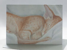 Oriental Cat Fine Art Greeting Card - Blank Inside