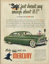 1948 Mercury suicide four-door hardtop green '49 model PRINT AD
