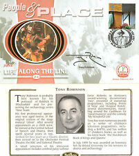 6 JUNE 2000 PEOPLE AND PLACE BENHAM FDC SIGNED BY ACTOR PRESENTER TONY ROBINSON