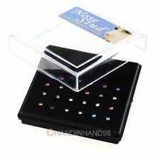 24Pcs Mix Color Body Jewelry Nosepiercing Nose Studs Nail Nose Piercing