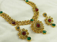 Beautiful Goldtone Indian Traditional Necklace set Bollywood Bridal Jewelry
