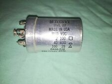 Used Mallory FP Capacitor - 2/40/100 MFD 100/400/25 VDC - 0406-038 - Untested