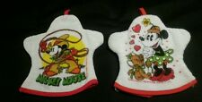 VINTAGE MICKEY MOUSE AND MINNIE MOUSE HAND GLOVE TOWELS