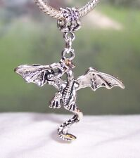 Oversize Dragon Fantasy Fairytale Creature Dangle Bead for Euro Charm Bracelets