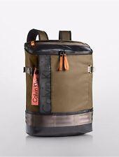new calvin klein mens pilot flap nylon backpack dark utility $228