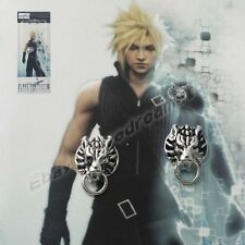 Pair of Final Fantasy VII 7 Cloud Cloudy Wolf Metal Earrings Clip For Gift NIB
