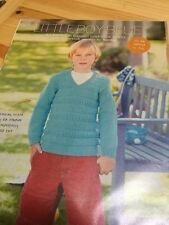 Boy's Jumper Knitting Pattern - Size 6 To 16 Years, Textured