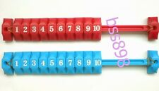 2pcs blue/red FOOSBALL SOCCER TABLE football counter SCORING UNITS