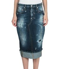 bnwt Dsquared long fitted denim pencil skirt.uk 8/40. £335.Indigo blue
