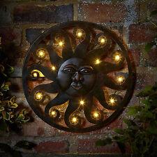 LED Sun Metal Outdoor Metal Wall Art Light Timer Multi Function