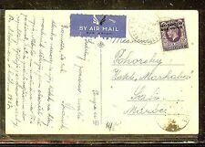 MOROCCO AGENCIES (P1206B) 1936  KGV 3D  ON PPC TANGIER TO SAFI