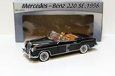 1:18 SUNSTAR MERCEDES 220 se Cabriolet BLACK NEW in Premium-MODELCARS