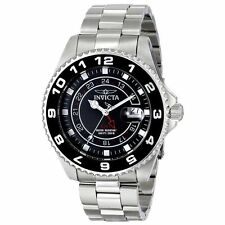 Invicta Men's 47mm Pro Diver Swiss Quartz Black Dial Stainless Steel Watch 17145