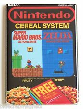 Nintendo Cereal FRIDGE MAGNET (2.5 x 3.5 inches) box zelda super mario