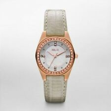 Relic by Fossil Queens Court Rose Gold Tone Leather Band Watch ZR11984