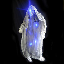 5' Standing Lighted Witch Evil Spirit White Scary Ghost Halloween Party Prop