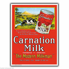 CARNATION MILK METAL SIGN WALL PLAQUE PRINT Retro Vintage poster Advert 1930's
