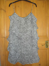 MANGO black & white layered short dress. Size Medium.