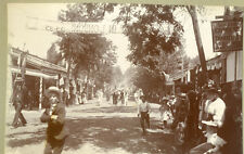 2 Large 1898 Street Scene Photos of Parade in Sonora CA w/ Sonora Express Sign
