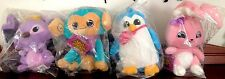 "Animal Jam - Koala, Bunny, Penguin and Monkey 6"" Plush (Lot of 4) New, Sealed"