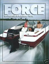 Boat Motor Brochure - Force - Mercury Marine - Outboard Product Line 1995 (SH41)