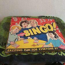 2 VINTAGE COMPLETE BINGO BOARD GAMES. BINGO 1941, BRIDE BINGO 1957