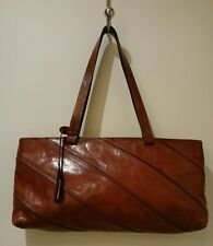 Danier Leather Chestnut Brown Leather Handbag