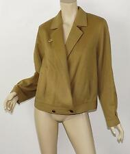 Vtg BURBERRYS Burberry Camel Tan Melton Wool Boxy Menswear Short Jacket 40 M 10
