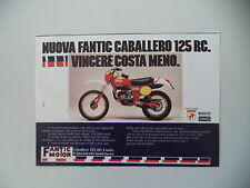 advertising Pubblicità 1978 MOTO FANTIC CABALLERO 125 RC