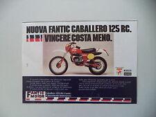 advertising Pubblicità 1978 MOTO FANTIC CABALLERO 125 RC