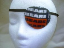Adult unisex handmade Chicago Bears eye patch.- 2 style to select from.