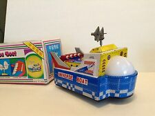 UNIVERSE BOAT ME 767 CHINA TIN TOY BUMP N GO ACTION in Box Vintage TOY