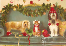 Cocker Spaniel Bearded Collie Cat Christmas Cards Box of 10 Printed in USA