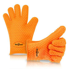 THE ORIGINAL SILICONE HEAT RESISTANT OVEN GLOVES , OVEN MITTS , POT HOLDERS