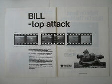 4/1989 PUB BOFORS NOBEL INDUSTRIES BILL ANTI TANK MISSILE SYSTEM ORIGINAL AD