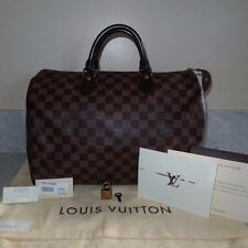 2012 RECEIPT GUC Louis Vuitton Damier Canvas Speedy 35 Handheld Bag $990+TAX