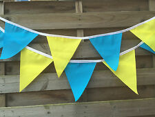 TOUR DE YORKSHIRE FABRIC BUNTING. READY TO POST.EXTRA LARGE FLAGS.10FT