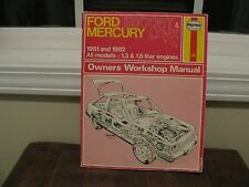 1981 & 1982 FORD ESCORT & MERCURY LYNX WORKSHOP REPAIR MANUAL by HAYNES